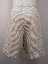 Buy Womens Shorts Plus Size 20W INC Striped Cuffed Legs Classic Rise 46X10 55% Linen