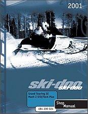 Buy 2001 Ski-Doo Grand Touring SE / Mach Z Tech Plus Service Manual on a CD