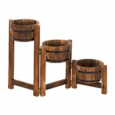 Buy 15113U - Apple Barrel Fir Wood Planter Ladder Stairstep