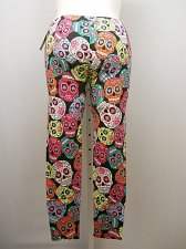 Buy Women Leggings PLUS SIZE 3X SKULLS Multi Colored Print Skinny Legs Inseam 29