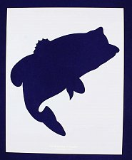 Buy Bass (fish) Jumping Stencil -Large- Set-14 Mil Mylar- Painting/Crafts/Template