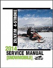 Buy 2014 Arctic Cat ZR XF M 5000 7000 9000 4-Stroke Snowmobile Service Manual on CD