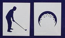 Buy 2 Piece Set - Golf Stencils Mylar 14 Mil Painting/Crafts/Stencil/Template