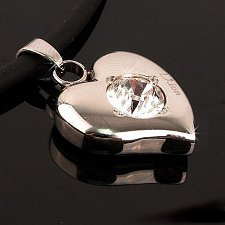 Buy ELECTRIFIED FEEL BETTER EJNP-D028 Heart Pendant Necklace w 6 Swarovski Crystals