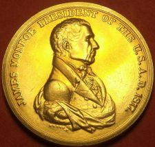Buy Gem Unc James Monroe Presidential Bronze Inauguration Medallion~Free Shipping