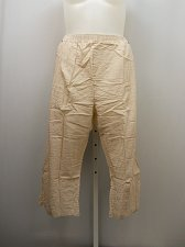 Buy PLUS SIZE 24W Women Cotton Capris Striped Brown Side Pockets Elastic Waist