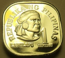 Buy Philippines 1976 Sentimo Proof~Rare 9,901 Minted~Square Coin~Free Shipping