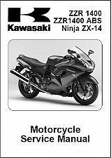 Buy 2006-2007 Kawasaki Ninja ZX-14 ( ZZR1400 ) ABS Service Manual on a CD