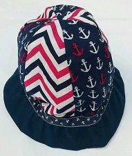 Buy Child's Hat sun hat girls nautical print hat reversible child sun hat toddler