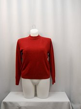 Buy Womens Sweater Mock Turtle Neck SIZE XL DEBBIE MORGAN Red Long Sleeves Acrylic