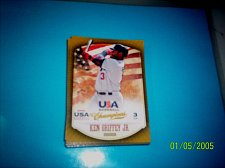 Buy KEN GRIFFEY JR #41 2013 Panini USA Champions Gold Boarder Card FREE SHIP
