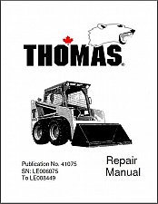 Buy Thomas T133 ( T133S ) Skid Steer Loader Service Manual on a CD