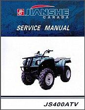 Buy Jianshe JS400 Mountain Lion ATV Service Manual on a CD -- JS 400 JS400ATV