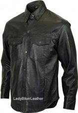 Buy Mens SOFT Black LAMBSKIN Leather Shirt SNAP Front CONCEALED CARRY Pistol Pocket