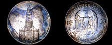 Buy 1934-A German 5 Reichsmark World Silver Coin - Germany 3rd Reich - 1st Anniv