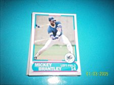 Buy 1988 Score Young Superstars series 11 baseball MICKEY BRANTLEY #15 FREE SHIP