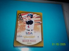 Buy WARREN MORRIS #25 2013 Panini USA Champions Gold Boarder Card FREE SHIP