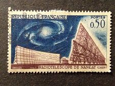Buy France stamp 1965 1v used stamp FRANCE OBLITERE N° 1362 RADIOTELESCOPE