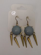 Buy Women Fashion Drop Dangle Earrings Blue Beads Gold Tones Hook Fastener Unbranded