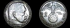 Buy 1938-A German 2 Reichsmark World Silver Coin - Germany 3rd Reich