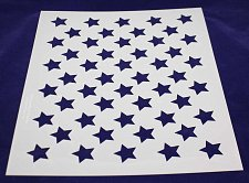 "Buy 50 Star Stencil 14 mil Mylar-17.6""H x 22""W- Painting/Crafts/Stencil/Template"