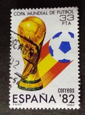 Buy Spain 1v used Stamp Mi:ES 2533 Sport Football World Cup Spain ´82