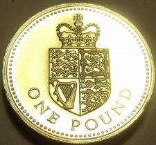 Buy Gem Cameo Proof Great Britain 1988 Pound~125,000 Minted~Edge Inscription~Free Sh