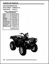 Buy 2009 Polaris Sportsman 800 EFI / X2 800 EFI / Touring Service Manual on a CD