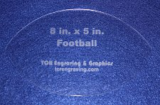 "Buy Football Shaped Quilting Template- Acrylic - Long Arm/Hand Sew - 1/8"" Acrylic"