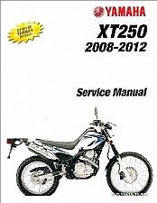 Buy 2008-2009-2010-2011-2012 Yamaha XT250 Service Manual on a CD -- XT 250