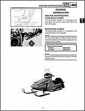 Buy 1991 1992 1993 Yamaha Enticer ll 570 Snowmobile Service Repair Manual CD - EX570