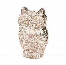 Buy *15866U - Silver Mercury Glass Quilted Owl Figurine