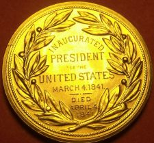 Buy Gem Unc Willam H. Harrison Presidential Bronze Inauguration Medallion~Free Ship