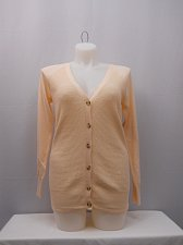 Buy Size M Womens Cardigan Boyfriend Cut FADED GLORY Button V-Neck Light Peach
