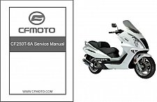 Buy CFMoto Jetmax 250 CF250T-6A Scooter Service Repair Manual CD ..- CF Moto