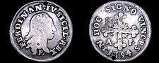 Buy 1794 P//M-AP Italian States Naples 10 Grana World Silver Coin - Italy - Holed