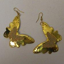 Buy Women Fashion Drop Dangle Earrings Gold Glitter Butterflies PRECIOUS Hook