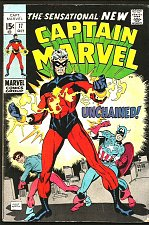 Buy CAPTAIN MARVEL #17 Fine 1969 Gil Kane1st New Appearance Guardians of the Galaxy