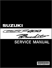 Buy 91-97 Suzuki GSF400 Bandit Service Repair Manual CD --- GSF 400