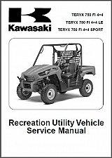 Buy 10-13 Kawasaki Teryx 750 FI 4X4 LE Sport UTV Service Repair Workshop Manual CD