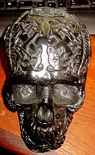 Buy Ornate Black Skull art object