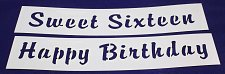 "Buy 2 Pc Set Sweet Sixteen Message Stencils 14 Mil Mylar-3 3/4""H x 17"" L Painting"