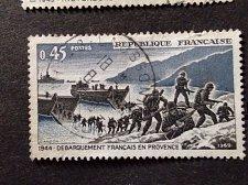 Buy France 1969 1v used stamp French landing in Provence in 1944