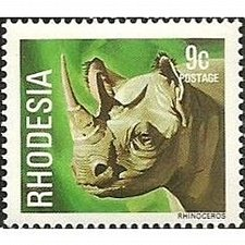 Buy Rhodesia 1978 Animals 9c White Rhinoceros Unmounted Mint NHM SG 560 Sc 398 stamp