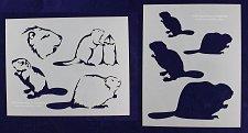 Buy 2 Piece Set - Beaver Stencils Mylar 14 Mil Painting/Crafts/Stencil/Template