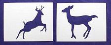 "Buy 2 -Mylar 14 Mil 8""x10"" Deer/Buck Full Body Stencils Painting/Crafts/Template"