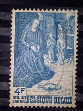 Buy Belgium used 1v stamp 1973 Christmas Stamp Thrematic Religion