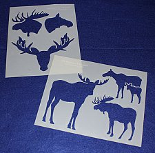 Buy Moose Stencils 2 pc set Painting/Crafts/Stencil/Template -Mylar 14 Mil
