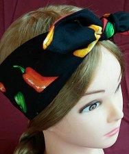 Buy Headband hair wraptie bandana Hot Pepper biker self tie men women