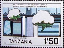 Buy Tanzania 1v mnh Stamp 1985 MNH Textile Industry